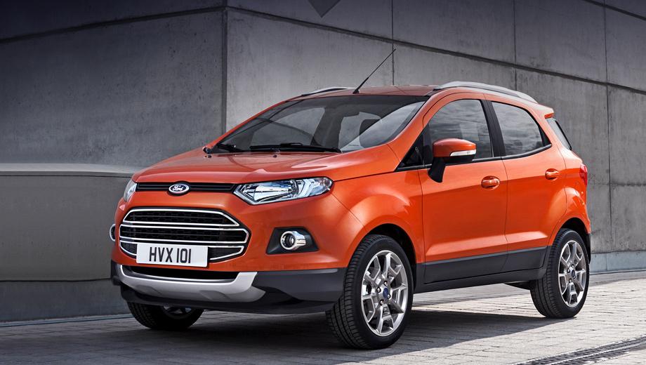 Ford ecosport. Европейские продажи компактного кроссовера стартуют в середине этого года.
