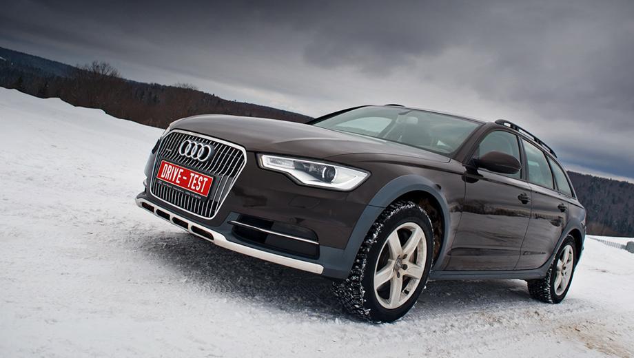 Audi allroad,Audi a6 allroad. В России нынешняя модель Audi A6 allroad продаётся с апреля 2012 года. На выбор — версия с 245-сильным турбодизелем V6 3.0 TDI или машины с 310-сильным компрессорным V6 3.0 TFSI. Пневмоподвеска и «робот» S tronic — начальное оснащение. Цены — 2 536 000 и 2 638 000 рублей соответственно. А в Европе дополнительно доступны ещё две модификации с дизелем V6 3.0 TDI — с 204 и 313 силами.