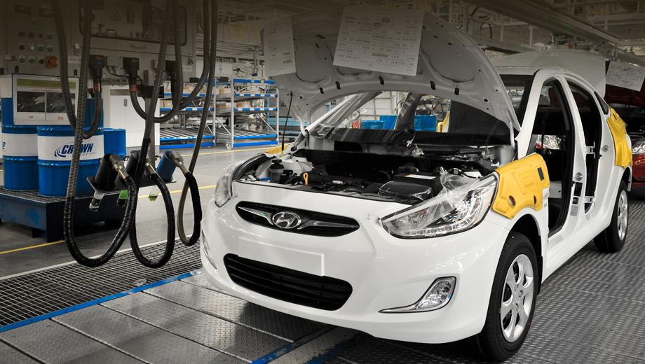 Hyundai solaris. Запуск обновлённой машины состоялся вчера 28 февраля 2013 года на заводе Хендэ Мотор Мануфактуринг Рус в Санкт-Петербурге.