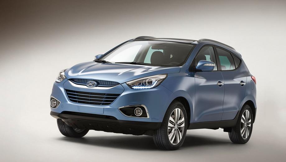 Hyundai ix35. На европейском рынке Hyundai ix35 по-прежнему будет доступен с четырьмя бензиновыми и дизельными моторами мощностью от 116 до 184 сил. Коробки передач — «механика» с пятью или шестью ступенями, а также шестидиапазонный «автомат».