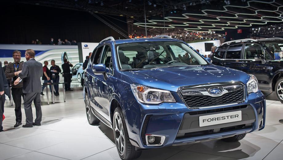 Subaru forester. Внешне кроссовер, предназначенный для нашего рынка, будет точно таким же, как и европейский вариант.