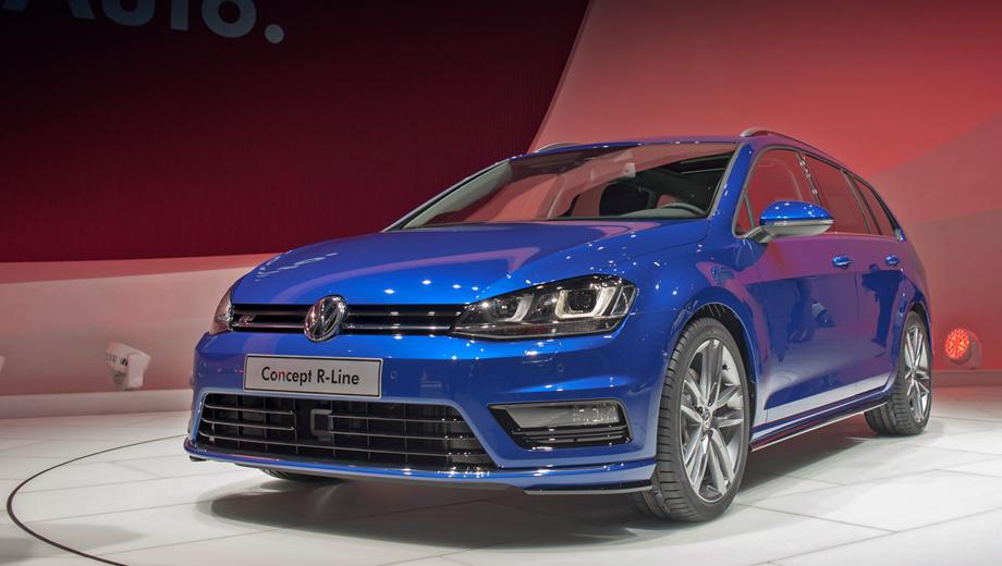 Volkswagen golf. Выставленный образец универсала оснащён дизельным двигателем мощностью 150 л.с.