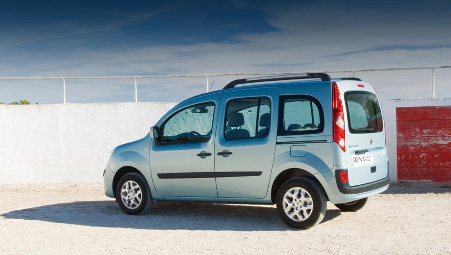 Renault kangoo. Дизельный Kangoo расходует в загородном цикле 5 л горючего на сто километров (в пассажирской версии) и 4,9 — в грузовом исполнении.