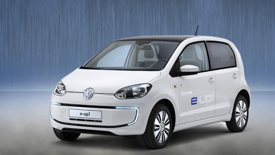 Volkswagen e-up. Для улучшения аэродинамики здесь были чуть-чуть подправлены передний бампер, пороги и днище.