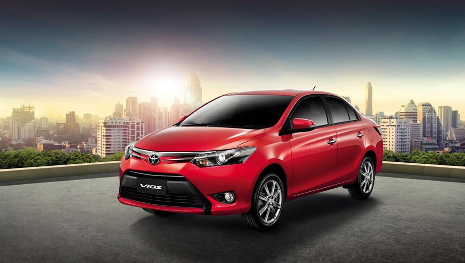 Toyota vios. Начальная цена седана в Таиланде составляет 559 000 батов ($19 000).