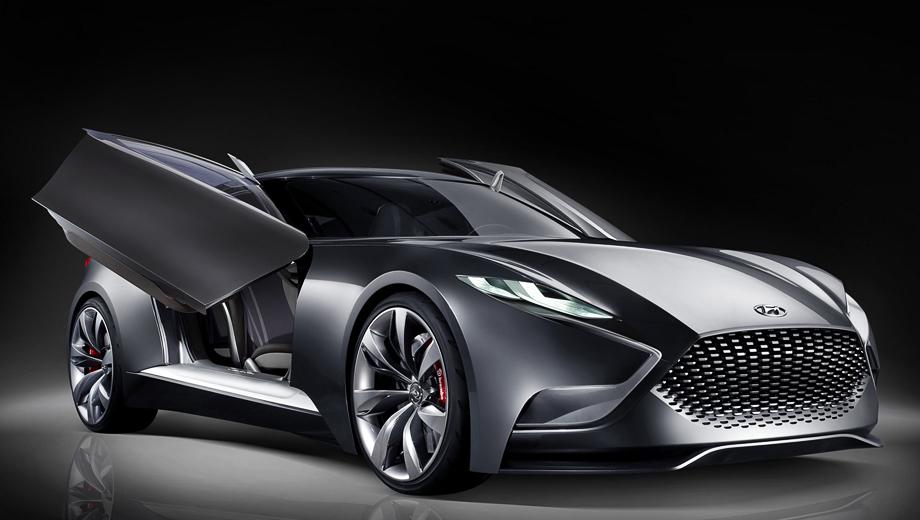 Hyundai hnd-9,Hyundai concept. Облик концепта HND-9 строже, но в то же время агрессивнее, чем у нынешнего купе Genesis.