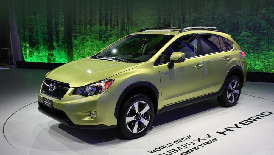 Subaru xv,Subaru xv crosstrek hybrid. Хотя компания Subaru давно экспериментировала с гибридами, на конвейер первую свою такую модель она поставила только сейчас. На рынок США модель XV Crosstrek Hybrid выйдет в четвёртом квартале 2013 года.