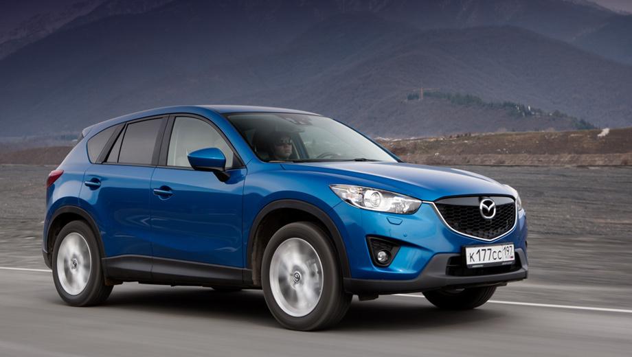 Mazda cx-5. С ноля до 100 км/ч паркетник с мотором 2.5 разгоняется за 7,9 с (против 9,8 с у 150-сильной версии).