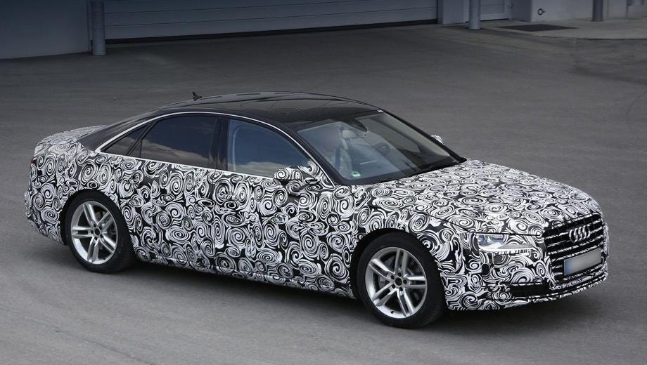 Audi a8. Рестайлинговая «восьмёрка» должна дебютировать в 2014 году как модель года 2015-го.