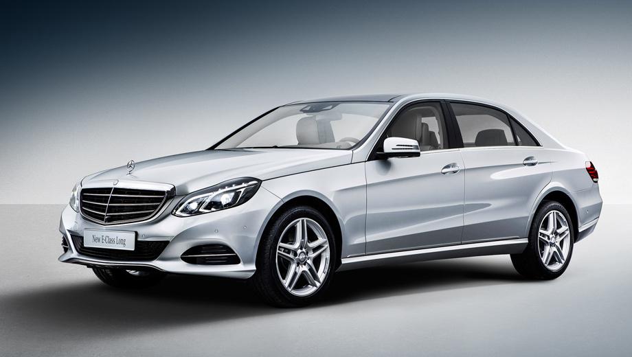 Mercedes e. Общая длина новой четырёхдверки составляет 5019 мм.