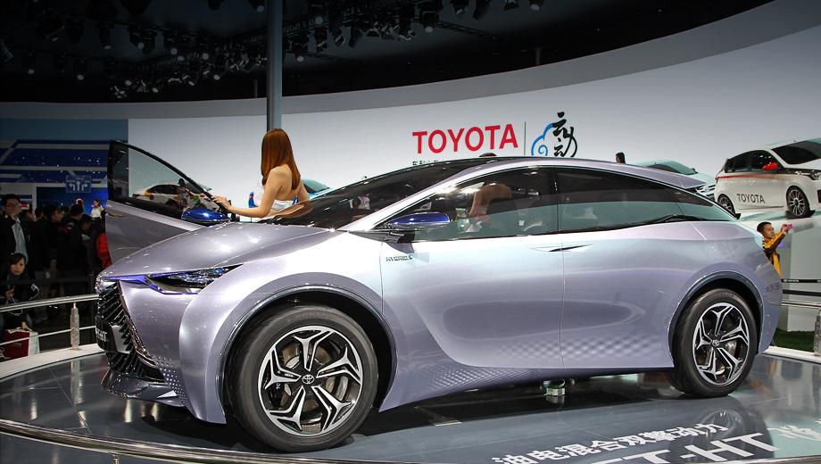Toyota ft-ht yuejia,Toyota concept,Toyota yaris,Toyota gac-,Toyota gac- ev. Гибрид FT-HT Yuejia — шоу-кар с перспективой серийного воплощения.
