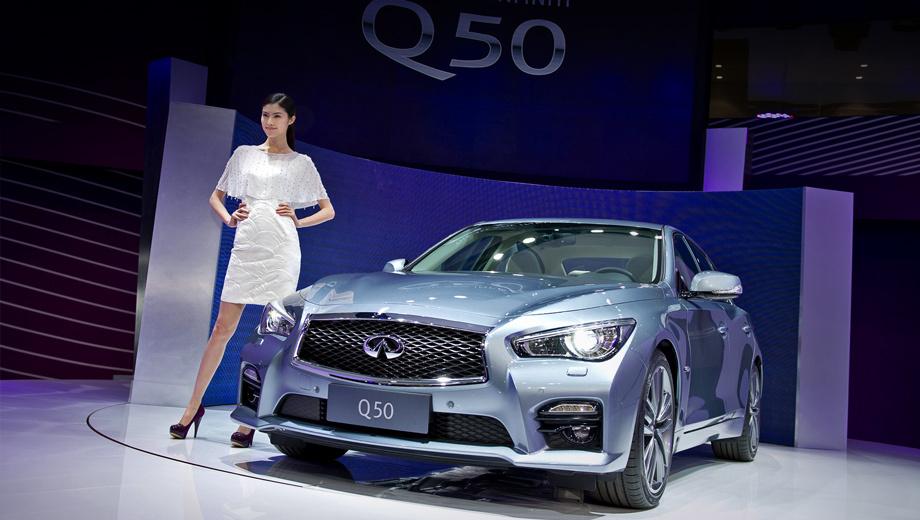 Infiniti q50,Infiniti qx50. Седан представляет китайская супермодель Суй Хэ. Что до моделей Infiniti, адресованных Поднебесной, то в тамошних СМИ они частенько фигурируют с дополнительной буквой в названии: как Q50L и QX50L.
