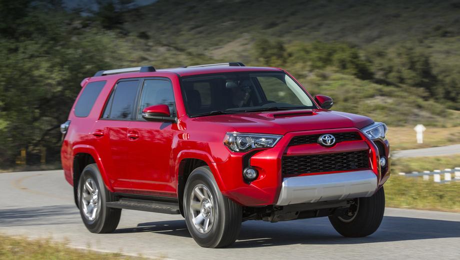 Toyota 4runner. Цены на Тойоту 4Runner 2014 модельного года не объявлены, но они едва ли будут сильно отличаться от тех, что были на дорестайлинговой машине (от $31 490 до 38 955). Старт продаж намечен на осень 2013-го.