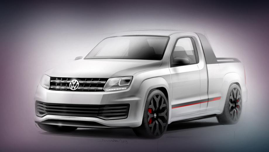 Volkswagen amarok. Концепт обули в 22-дюймовые колёсные диски оригинального дизайна.