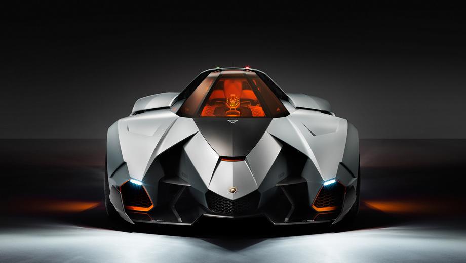 Lamborghini egoista,Lamborghini concept. Внешне концептуальный суперкар получился даже агрессивнее вертолёта Апач, который вдохновлял дизайнеров концерна Volkswagen при создании Эгоиста.
