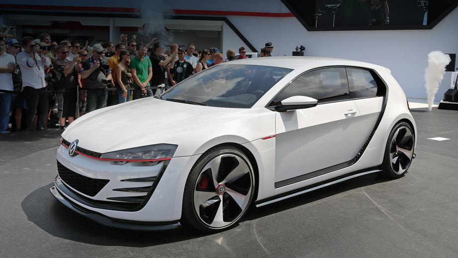 Volkswagen golf gti,Volkswagen amarok,Volkswagen concept. Полноприводный хэтчбек Golf Design Vision GTI разгоняется до 100 км/ч всего за 3,9 с.
