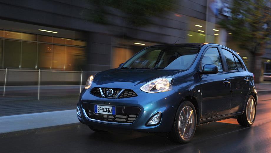 Nissan micra. От японской версии европейский хэтчбек Nissan Micra отличается прежде всего головной оптикой.