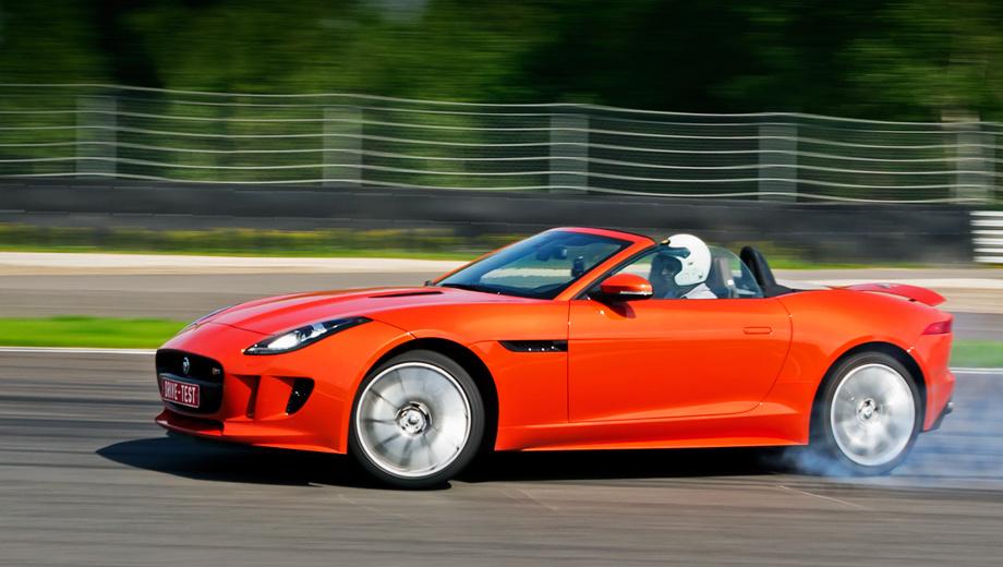 Jaguar f-type. Настоящий нарушитель спокойствия. Быстрый, дымный и шумный. Тем, кто любит притопить во дворах, цветочный горшок в лобовом стекле от соседей включён в список базового оснащения.