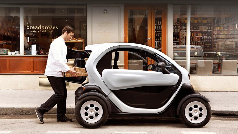 Renault twizy. Формально Twizy является квадроциклом, но его часто сравнивают с электромобилями А-класса.