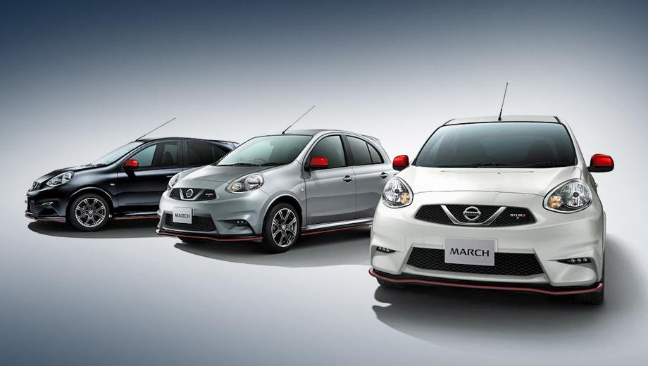 Nissan march,Nissan micra. Помимо внешнего обвеса автомобили получили перенастроенные подвеску и выпускную систему.