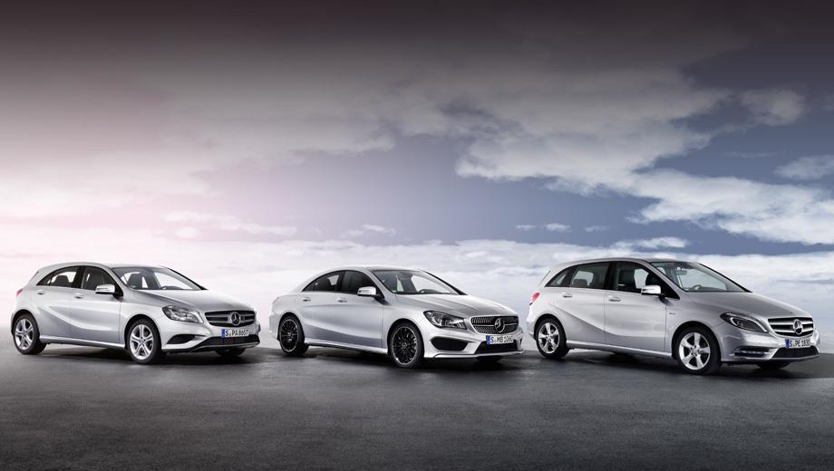 Mercedes a,Mercedes b,Mercedes cla. Новые модели в Европе можно заказывать с этого месяца, а к покупателям первые экземпляры доедут в сентябре.