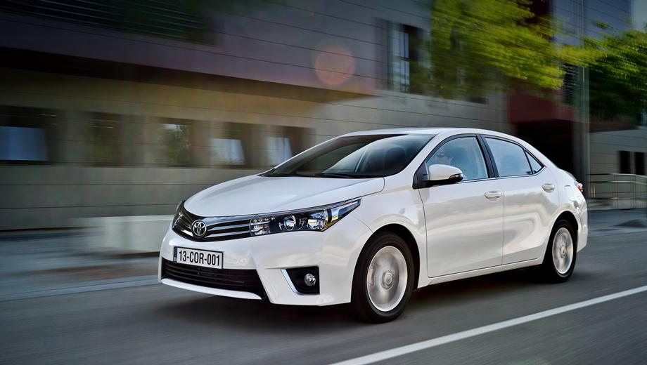 Toyota corolla. Светодиодные дневные ходовые огни входят во все версии.