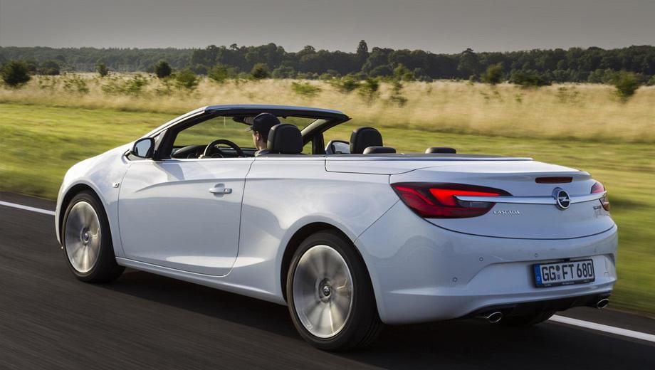Opel cascada. Никаких отличий во внешности у новинки по сравнению с менее мощными версиями нет.