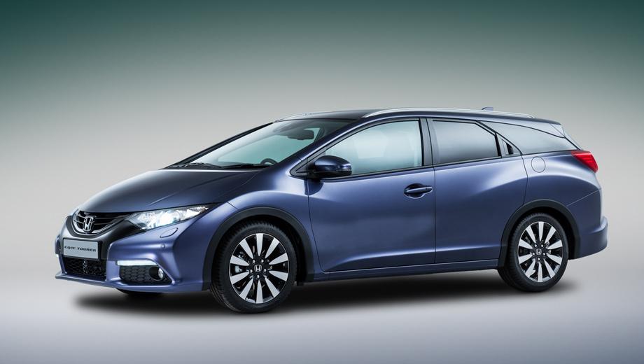 Honda civic. Внешне универсал Honda Civic и вправду вышел достаточно привлекательным. Если и цены удастся удержать на приемлемом уровне, то успех ему обеспечен.