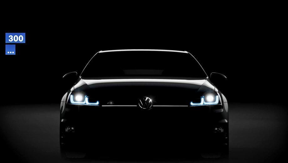 Volkswagen golf r. Наверняка от стандартных хэтчбеков Volkswagen Golf новинка будет отличаться более агрессивным обвесом кузова, однако пока производитель тщательно скрывает внешность «зажигалки».