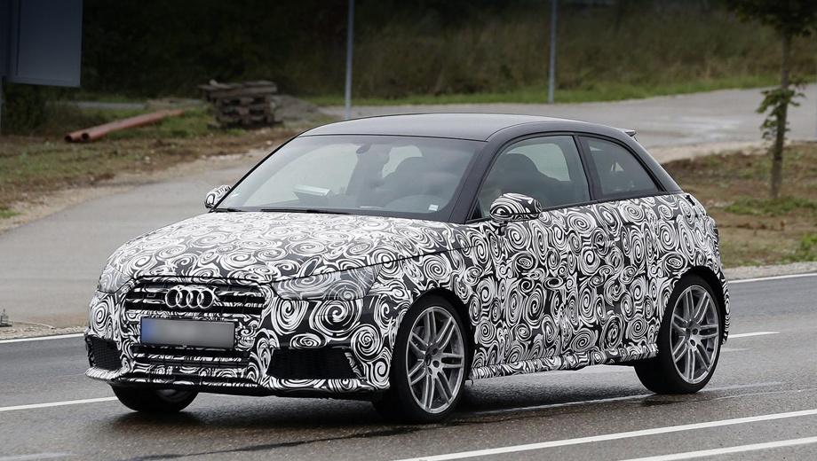Audi s1. Изменённые бампер и решётка радиатора выдают в этом прототипе не вполне обычную А1.