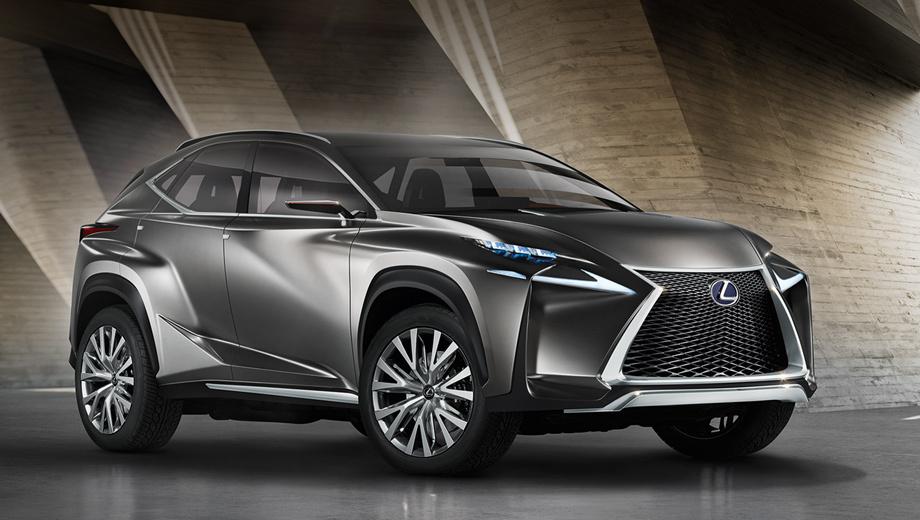 Lexus lf-nx,Lexus nx. Внешний облик шоу-кара разрабатывался в соответствии с философией L-finesse.