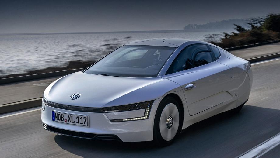 Volkswagen xl1. Паспортный расход дизельного топлива в комбинированном цикле у модели XL1 равен всего 0,9 л/100 км.