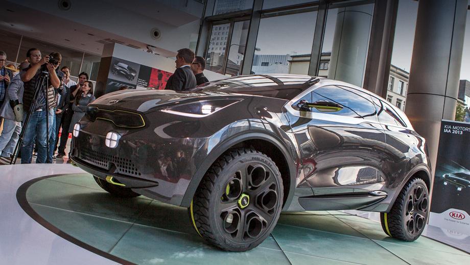Kia niro. Серийный образец концепта Kia Niro должен будет составить конкуренцию популярному кроссоверу Nissan Juke.