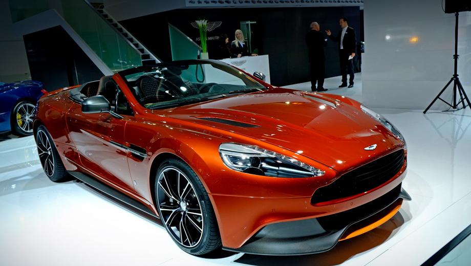 Aston martin vanquish. Подвеска кабриолета имеет три режима жёсткости:  Normal, Sport и Track.