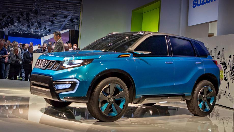 Suzuki iv-4. Бирюзовый «металлик» Brilliant Turquoise был разработан специально для этого шоу-кара.