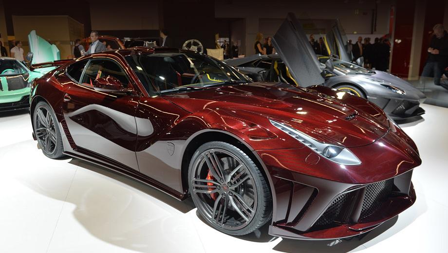 Ferrari f12. Крылышки, крылышки, щитки, дополнительные отверстия для прохода воздуха — перекроенная в Германии «итальянка» выглядит куда злее оригинала.