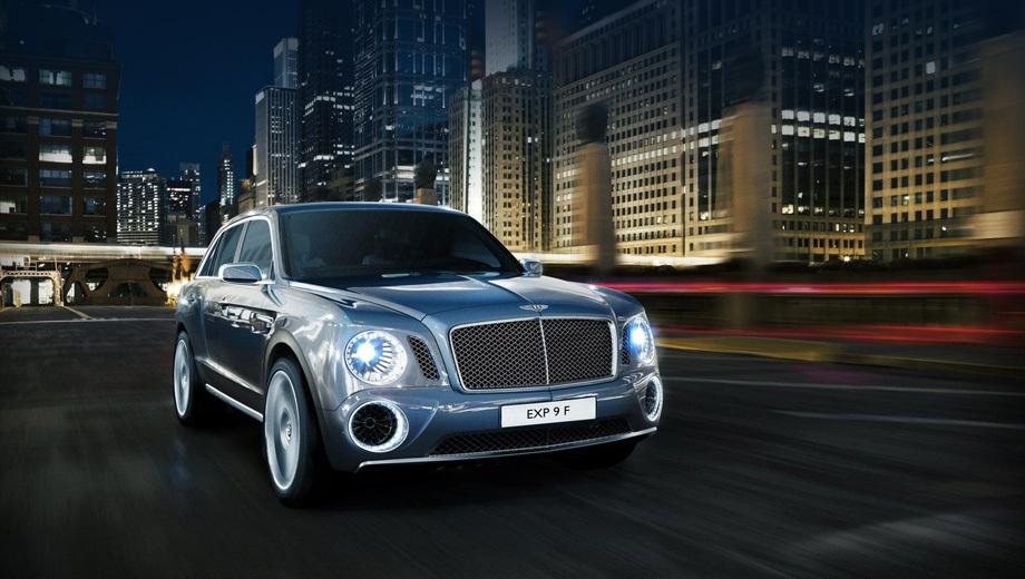 Bentley suv. Прообраз будущего внедорожника — концепт EXP 9 F — за неудачную внешность не ругал только ленивый. Так что облик его решено переделать полностью. Нет окончательного решения и по имени модели. Но сама идея такой машины потенциальным покупателям очень понравилась.