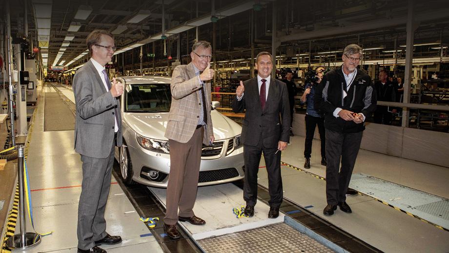 Saab 9-3. На шведском заводе сейчас работают уже 500 человек. Число субподрядчиков, поставляющих детали и узлы, тоже достигает 500.
