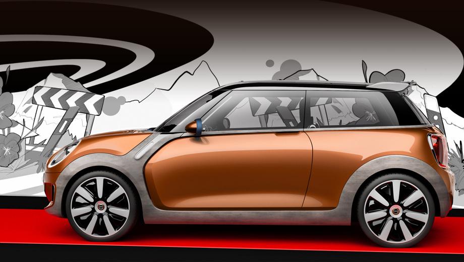 Mini cooper. Концепт Vision предвещал появление серийной машины, но, конечно, во внешности трёхдверки будут изменены некоторые детали. В продажу новый Мини поступит весной 2014 года.