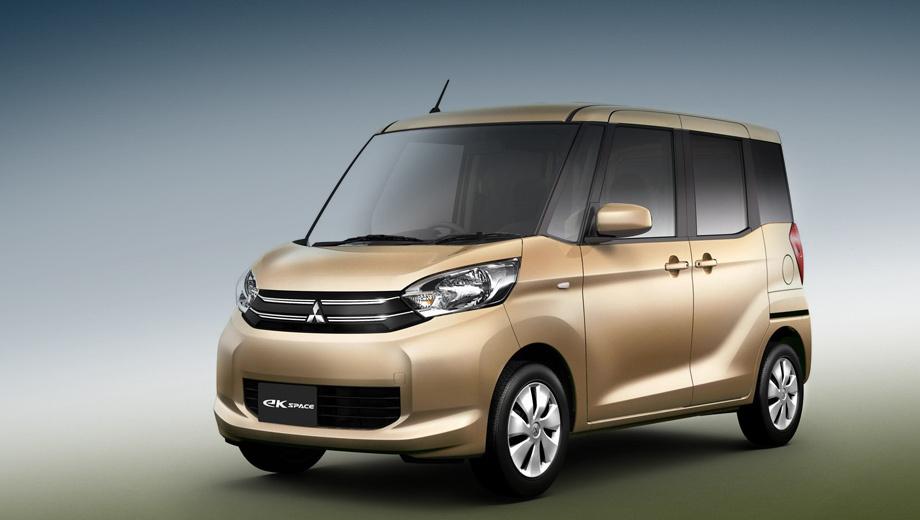 Mitsubishi ek space,Mitsubishi ek space custom. Японцы пока не приводят технических характеристик, но по снимкам видно, что пропорции и красота новой модели окончательно были принесены в жертву внутреннему объёму.