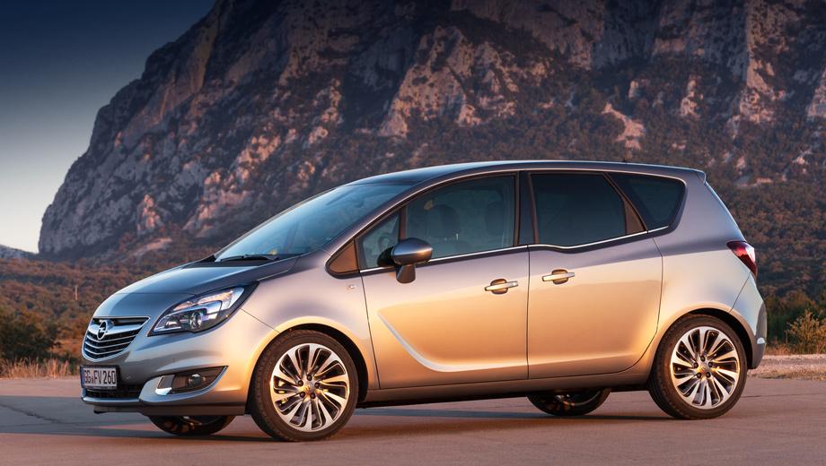 Opel meriva. Первые обновлённые машины европейские покупатели получат в начале следующего года.
