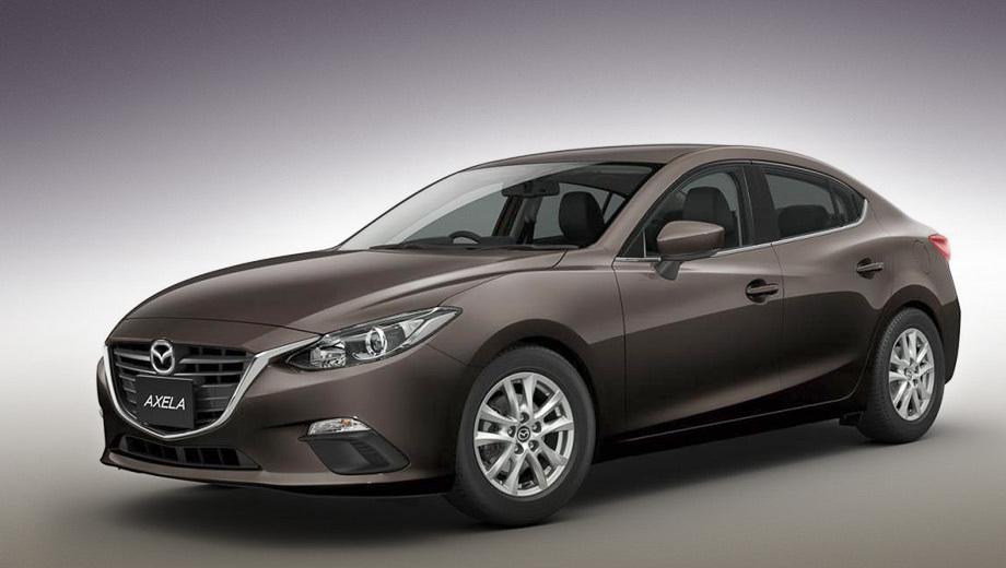 Mazda axela,Mazda 3,Mazda axela hybrid,Mazda 3 hybrid. Гибридная Mazda Axela может быть только с кузовом седан.