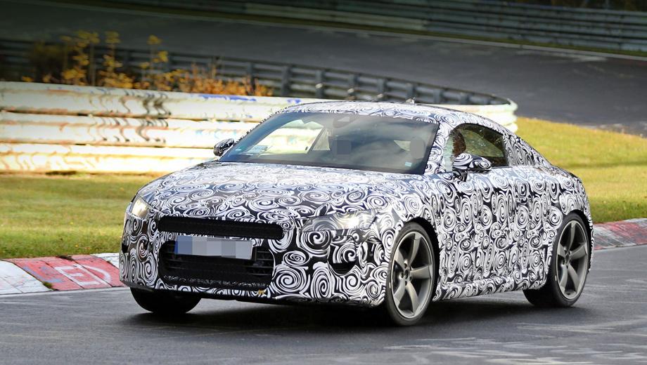 Audi tt. Поговаривают, что новая «тэ-тэшка» попадёт в шоу-румы в конце 2014 года и по сравнению с нынешней подорожает примерно на $2000.