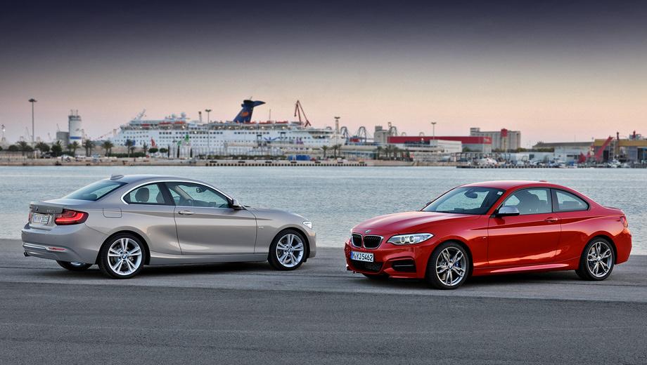 Bmw 2. Двухдверка BMW 2 Series Coupe на 72 мм длиннее, чем предшественница, и шире её на 26 мм (теперь 4432 и 1774 мм соответственно). На 41 и 43 мм была расширена передняя и задняя колеи (стало 1521 и 1556 мм), а высота автомобиля уменьшилась на 5 мм, до 1418 мм.