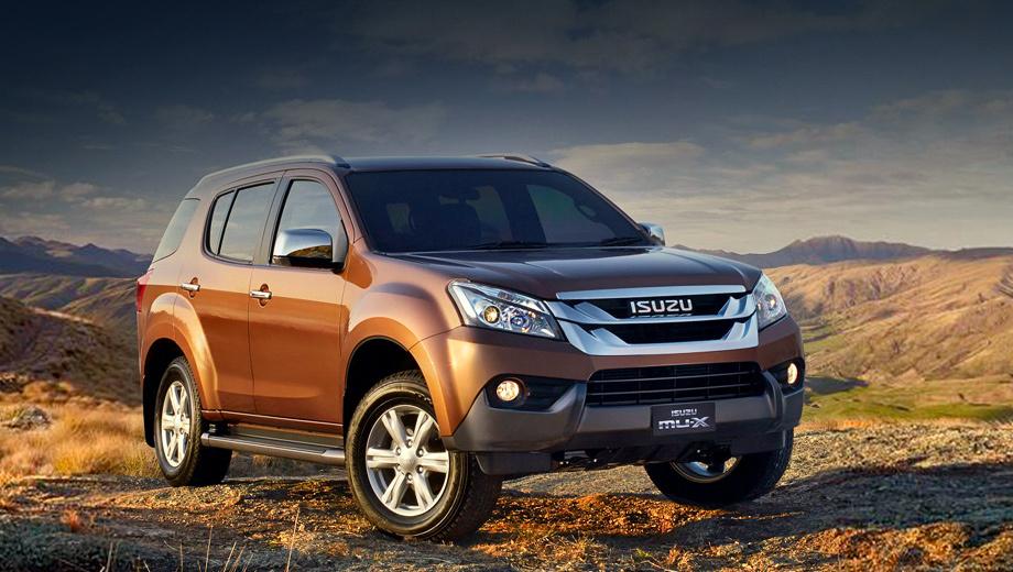 Isuzu mu-x. Автомобиль доступен в трёх вариантах комплектаций. Выбрать можно и между моно- и полным приводом.