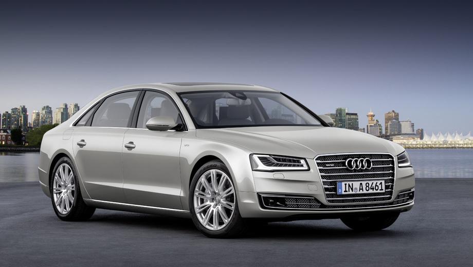 Audi a8. Немцы сообщают, что их технология отключения цилиндров в зависимости от режима движения может экономить до 20% топлива.