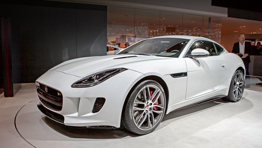 Jaguar f-type,Jaguar f-type coupe. Продажи новинки в Европе стартуют весной следующего года. В Великобритании купе дешевле родстера на 7285 фунтов стерлингов, а топовый F-Type R стоит 85 тысяч фунтов.