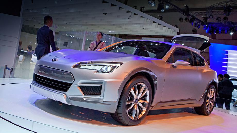 Subaru viziv,Subaru cross sport design,Subaru crossover7. В длину концепт Cross Sport Design насчитывает 4300 мм, а весит 1250 килограммов.