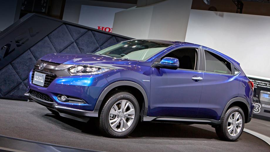 Honda vezel. Авторы модели уверяют, что она сочетает динамические качества внедорожника, элегантность купе и функциональность минивэна.