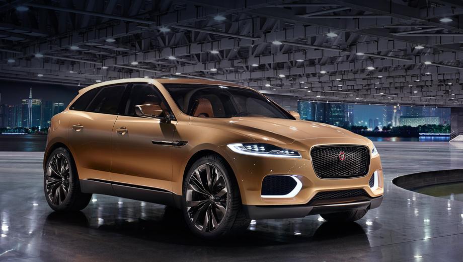 Jaguar c-x17,Jaguar concept. Серийная версия кроссовера будет построена на новой алюминиевой платформе, которая вначале достанется седану Jaguar XS.